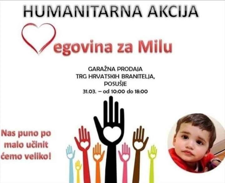 AKCIJE U MOSTARU I POSUŠJU: Mladi u Hercegovini podržali humanitarnu akciju za Milu Rončević