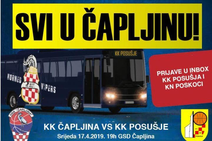 KK Posušje večeras gostuje u Čapljini: Navijačima besplatan prijevoz na utakmicu