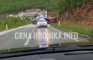 Na Vraniću se prevrnulo vatrogasno vozilo