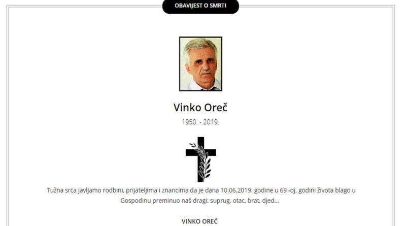 UMRO JE LEGENDARNI PROFESOR VINKO OREČ-KEMOS!