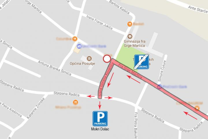 Do Velike Gospe posebna regulacija prometa središnjom ulicom u Posušju