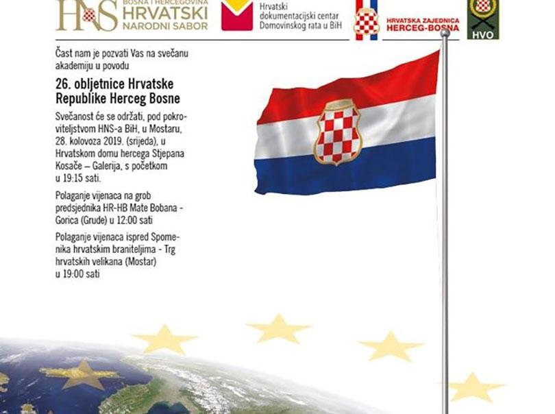 Danas Se Obilježava 26 Obljetnica Hrvatske Republike Herceg