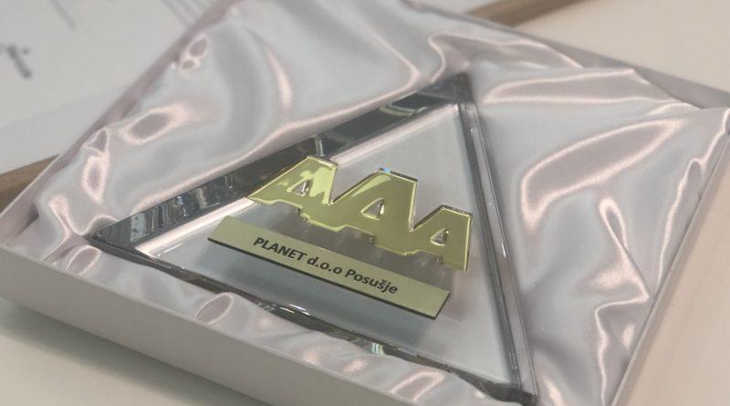 Posuški Planet d.o.o.: dobitnik Zlatnog Bisnode certifikata za bonitetnu izvrsnost