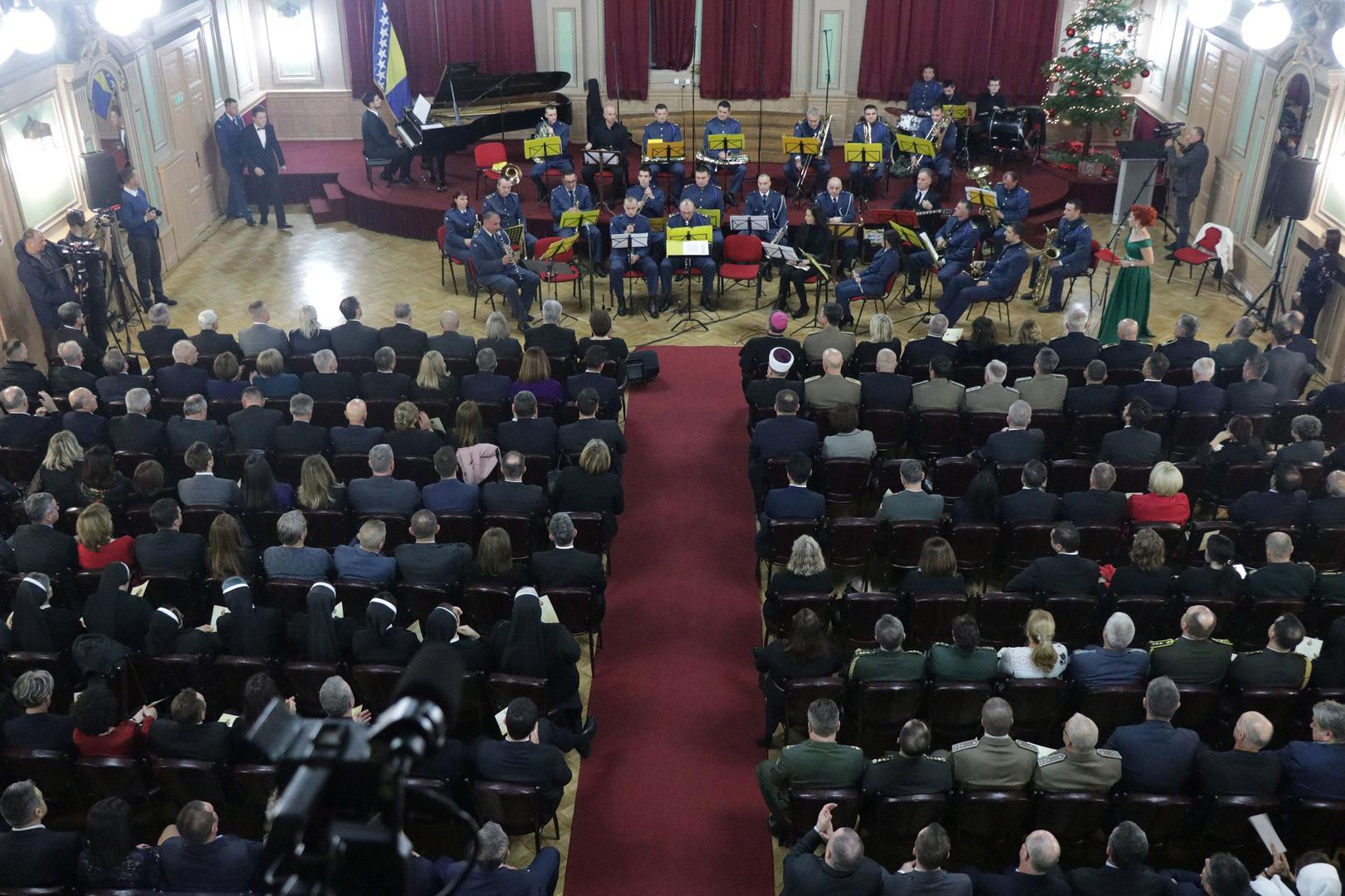 U Domu OSBiH održan svečani koncert i prijem u povodu Božića