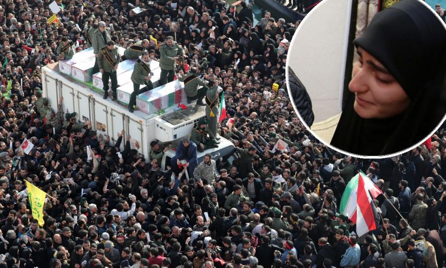 Milijuni ožalošćenih u pogrebnoj povorci. Kći generala Soleimanija: 'Crni dani su pred SAD-om'