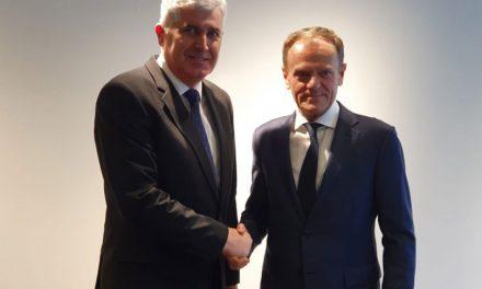 Izaslanstvo HDZ-a BiH predvođeno Čovićem na sastanku s Donaldom Tuskom