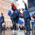 Rukometaši stigli na Trg, Lino održao strastven govor