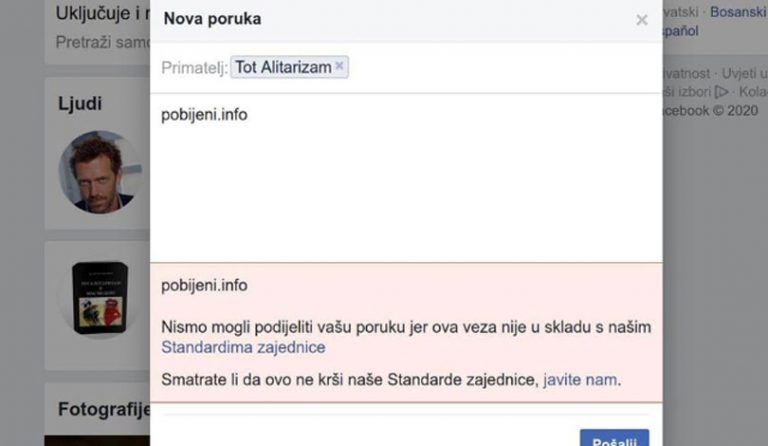 Facebook blokirao stranicu o pobijenim hercegovačkim franjevcima