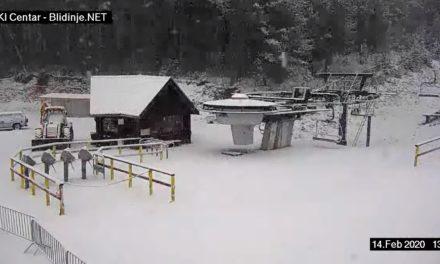 Pada jak snijeg na Blidinju