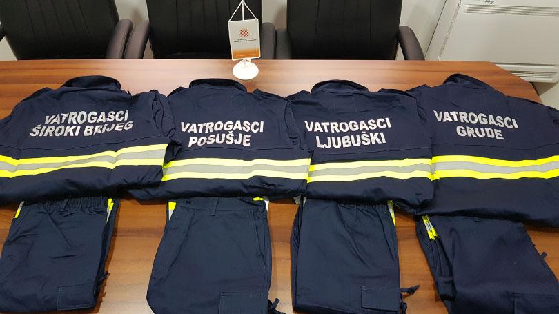 Nova odijela za vatrogasce u ŽZH