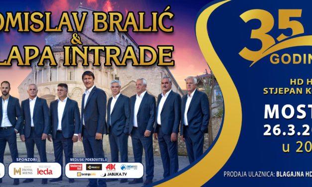 TURNEJA POVODOM 35. GODINA POSTOJANJA: Tomislav Bralić i Klapa Intrade održat će koncert u Mostaru