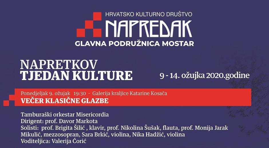 Napretkov tjedan kulture u Mostaru