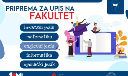Studentski zbor i IT Centar Sveučilišta u Mostaru organiziraju pripreme za upis na fakultet za maturante