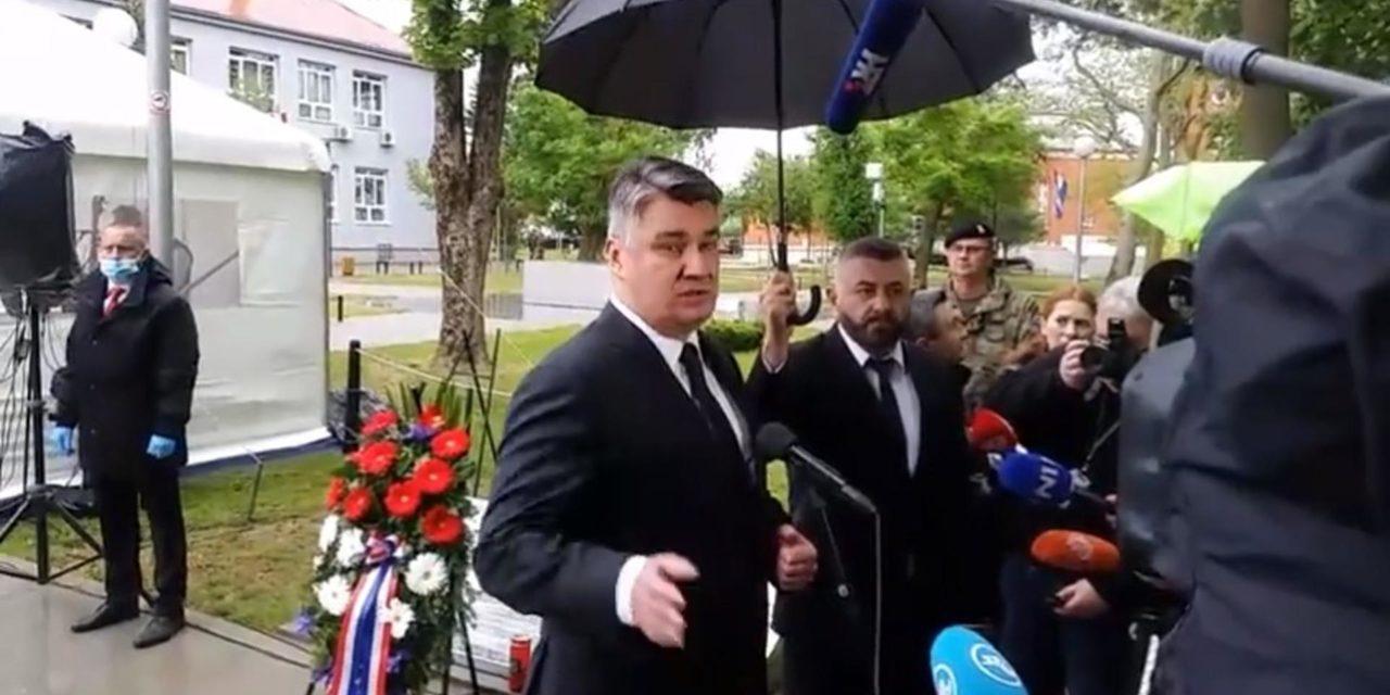 Milanović iznenada napustio obljetnicu Bljeska zbog natpisa 'Za dom spremni'