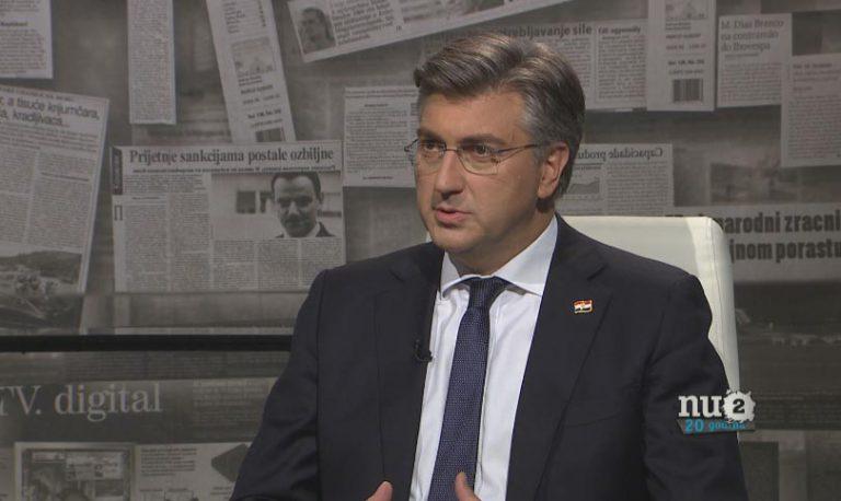 Plenković u Nu2: Bernardić nema iskustva, Škoro je eksperiment, Pupovac artikulira interese Srba