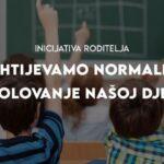 """Inicijativa roditelja """"Zahtijevamo normalno školovanje našoj djeci"""" 23. rujna u HNŽ i ZHŽ počinje s dijeljenjem izjava o odgovornosti"""