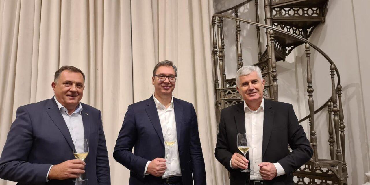 Dodik, Čović i Vučić o stanju u regiji, EU, investicijama…
