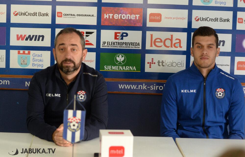 Karačić i Zlomislić: Nije nam cilj ne izgubiti, želimo pobjedu na Koševu