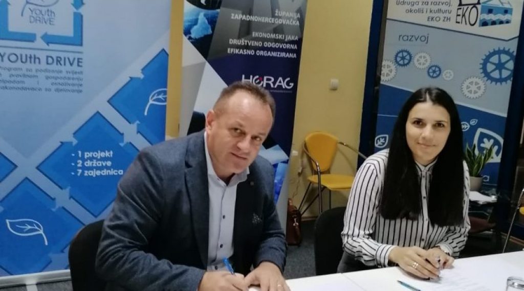 Potpisan sporazum o suradnji JU Razvojne agencije ŽZH – HERAG i Udruge za razvoj, okoliš i kulturu EKO -ZH