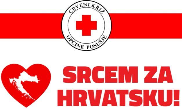 Crveni križ općine Posušje se priključuje humanitarnoj akciji SRCEM ZA HRVATSKU