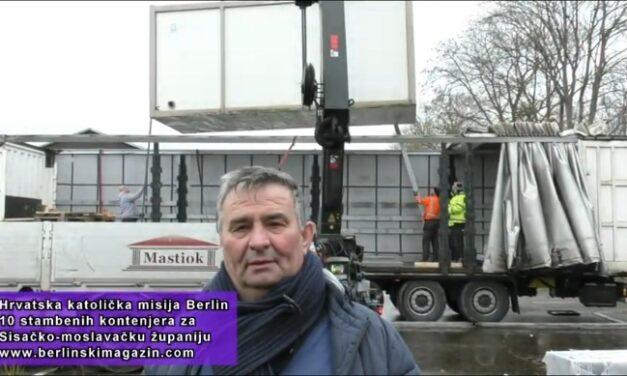Hercegovci iz Berlina šalju 10 Kontejnera za Petrinju