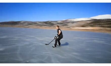 VIDEO: Na Blidinjskom jezeru može i hokej!