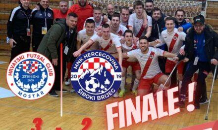 FUTSAL: Grubišić SA ZRINJSKIm izborio finale Kupa BiH
