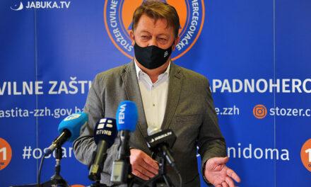 Ćosić: Nadamo se da će epidemiološke mjere usporiti širenja virusa