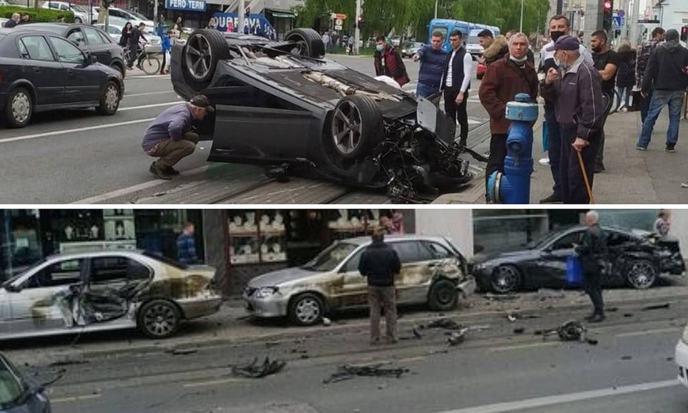 Prometna nesreća u Zagrebu: Audijem pokupio aute uz cestu, građani ga izvlačili iz automobila