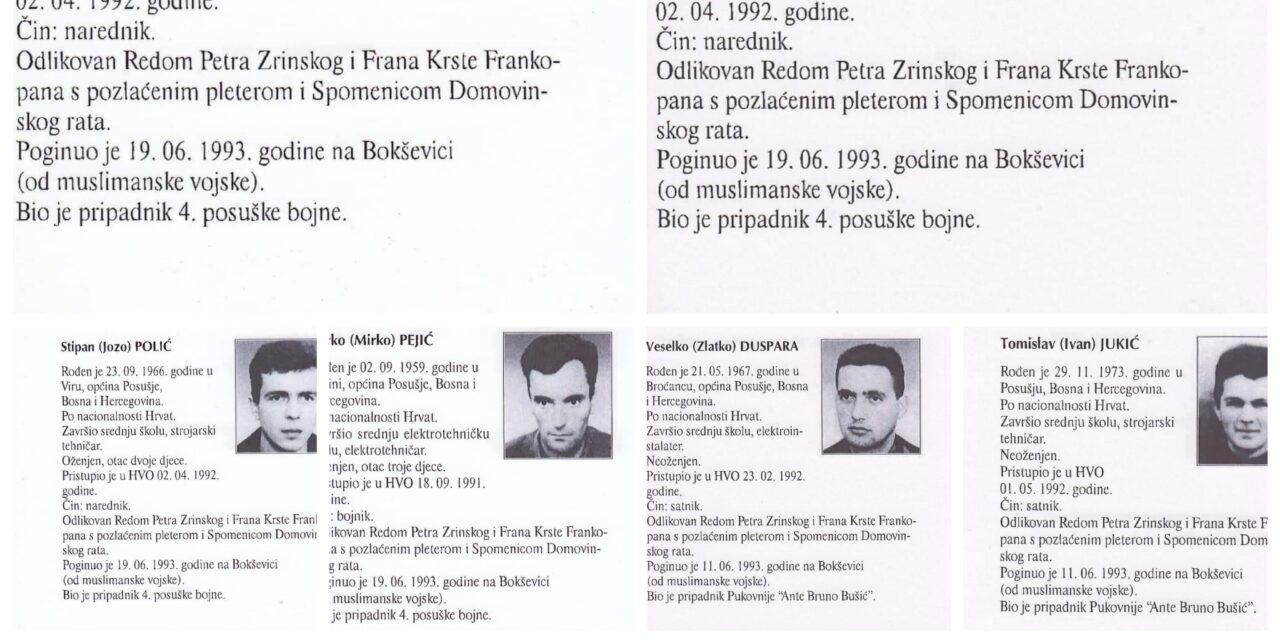 U Lipnju deset posuških vitezova POLOŽILI Svoje živote na Bokševici