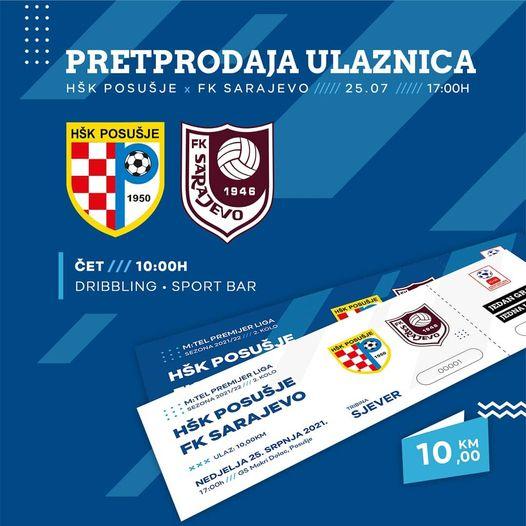 Puštena pretprodaja karata za nedjeljni susret sa Sarajevom