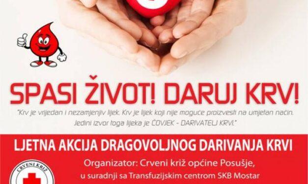 Posušje: Poziv na dobrovoljno darivanje krvi!