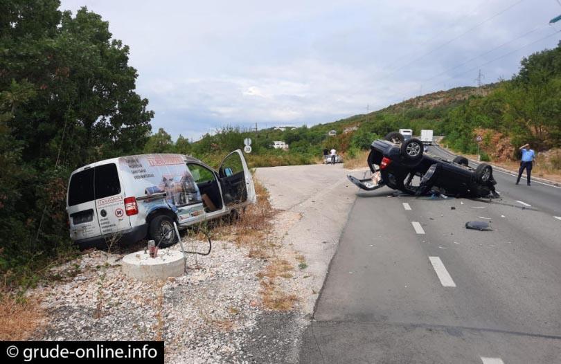 Grude: Tri osobe ozlijeđene u težoj prometnoj nesreći na sjevernoj obilaznici