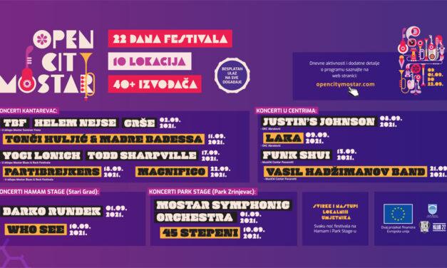 Open City Mostar – Počinju 22 dana besplatnog kulturnog i zabavnog programa