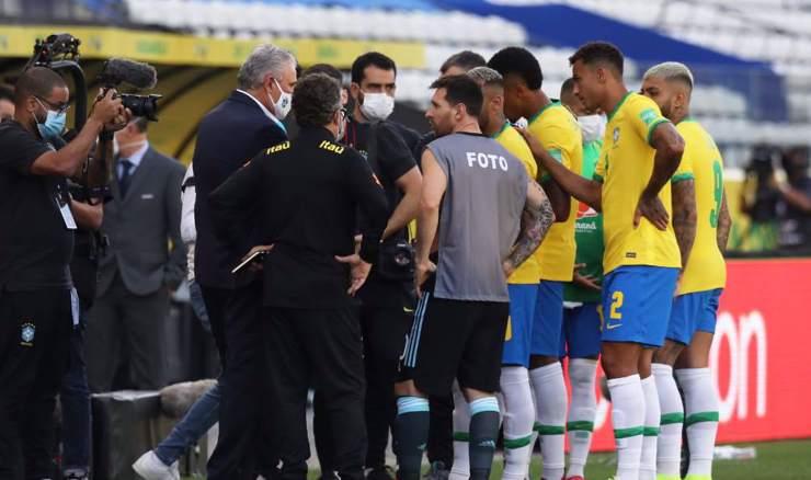 Zbog kršenja Covid protokola prekinut derbi Brazila i Argentine!