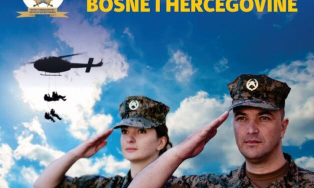 Javni natječaj za prijem kandidata u profesionalnu vojnu službu u početnom činu časnika Oružanih snaga Bosne i Hercegovine