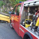 Podvranić: Auto završilo na krovu nakon udara u brdo